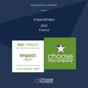 EnergyGo certifiée Impactindex 2021