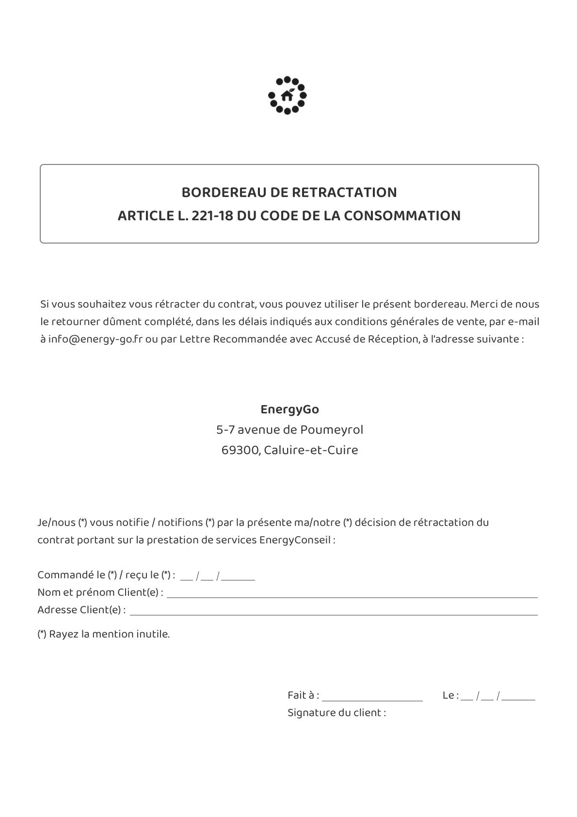 Conditions Générales de l'offre EnergyConseil 1